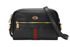 See the Gucci Mini Ophidia Mini Leather Crossbody Bag in Black. Gucci Store, Black Leather Crossbody Bag, Big Bags, Printed Bags, Mini Bag, Fashion Bags, Shopping Bag, Shoulder Bag, Vintage Gucci