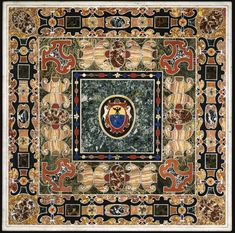 An Italian antique marble and pietre dure table top, Granducal workshops, Florence, Late 16thCentury | lot | Sotheby's