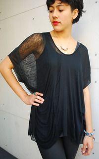 black shredded t-shirt, diy? #style #idea