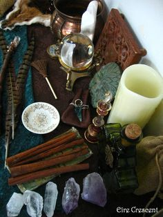 eirecrescent: Here is the view of Mabon Altar! Wiccan Altar, Wicca Witchcraft, Pagan Witch, Witch Cottage, Witch Aesthetic, Aries Aesthetic, Sabbats, Practical Magic, Book Of Shadows
