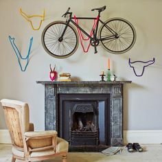 8 Great Ways to Store Your Bike: http://momentummag.com/gear/8-ways-to-store-your-bike-that-look-cool/