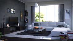 Modern #interior #design rendered by Sebastian Zapata