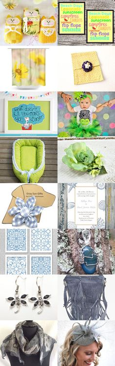 Collage of Fresh Colors by Cindy Humphrey on Etsy--Pinned+with+TreasuryPin.com