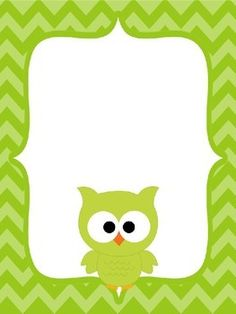 """A set of binder covers with chevron backgrounds and coordinating owls. Just add a text box to customize each page.  Covers available in green, pink, orange, purple, turquoise and yellow.  Binder spines for 1.5"""" binders also included.  You may also like these Owl Themed Desk Nameplates."""
