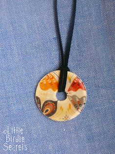 washer necklaces | Little Birdie Secrets - Great tips - circle punches, small file for middle circle, etc.