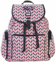 Sugar Monogrammed Heavyweight Canvas Ame & Lulu Backpack from the Girly-Twirly Gift Company
