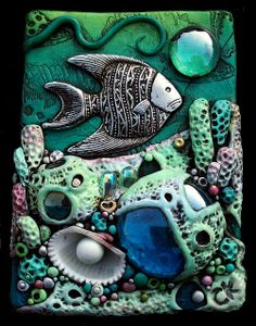 *POLYMER CLAY ~ Coral Reef ACEO by MandarinMoon, via Flickr