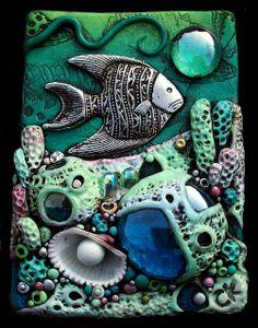 *POLYMER CLAY ~ Coral Reef ACEO by MandarinMoon, via Flickr