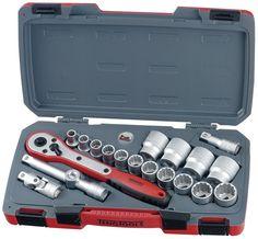 """Teng Tools 20 Piece 1/2"""" Drive AF Imperial Socket Set - T1220AF"""