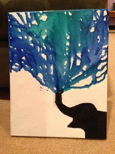 Melted Crayon Art Elephant