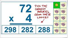 """""""Quiz de cálculo de multiplicación"""" (Operaciones de 3º y 4º de Primaria) Maths Area, Teaching Resources, Recipes"""