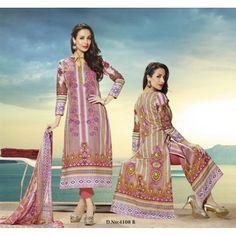 Eid Special Designer Malaika Arora Multi Colour Cotton Salwaar Suit-4108B( OFB-300 )Karishma