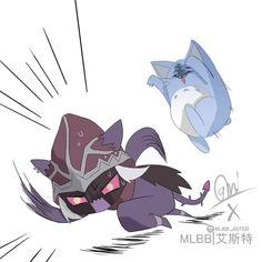 Mobile Legend Wallpaper, Games Images, Mobile Legends, Chibi, Fanart, Batman, Kitty, Bang Bang, Superhero