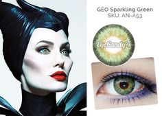 These bright green colored contacts will give you the Maleficent Look seen on Angelina Jolie in the popular Disney movie!
