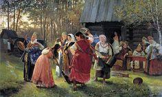 """Корзухин А. И.""""Девичник"""" (1889 г.)"""