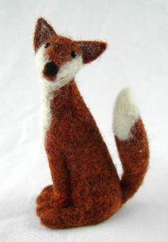 NEEDLE FELT FOX KIT -- Coriandr / jennymade