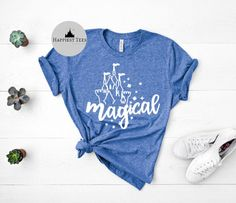 Excited to share this item from my #etsy shop: Magical Disney Shirt | Magic Kingdom Shirt | Disney Womens Shirt| Disney T Shirt | Matching Family Disney Shirts | Disney Vacation Shirt Disney Vacation Shirts, Disney Shirts For Family, Disney Vacations, Matching Disney Shirts, Magic Kingdom, Bella Canvas, Etsy Shop, Tees, How To Wear