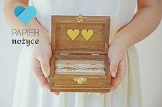 """Personalizowane pudełko na obrączki """"RUSTIC ring box I"""""""