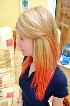 Ombre hairstyles are highly demanded by teen girls. Here are some very stylish bright ombre in red colors for the teen girls Orange To Blonde Hair, Green Hair, Hair Lights, Light Hair, Fox Hair Dye, Dyed Hair, Pretty Hairstyles, Straight Hairstyles, Sweet Hairstyles