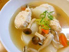ふわふわ鶏団子と大根の中華スープの画像