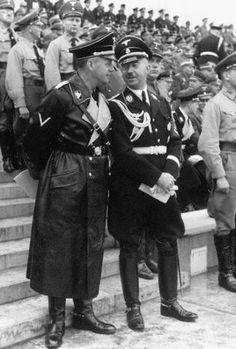 Foreign Minister Joachim von Ribbentrop and Reichsfuhrer Heinrich Himmler