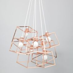 Iacoli & McAllister Frame Cluster Pendant Light: Mais