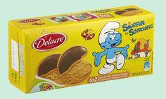 DELACRE Schtroumpf biscuit au chocolat au lait 150gr Biscuit Delacre, Biscuits, Milk, Crack Crackers, Cookies, Biscuit, Cookie Recipes