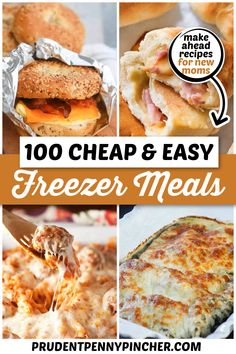 Plan Ahead Meals, Make Ahead Freezer Meals, Easy Meals, Frozen Meals, Sandwich Recipes, Loom Knitting, Lunches And Dinners, Healthy Dinner Recipes, Frugal