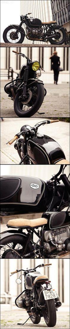 Un beau montage de plusieurs photos d'une belle Cafe Racer Dreams BMW R90/6 ! #moto #bike #caferacer #BMW
