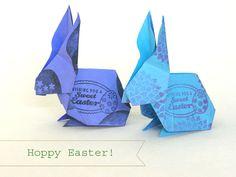 Origami Easter Bunny | Angies Art Studio