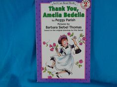 vintage 1993 Thank You, Amelia Bedelia book by Peggy Parish An I Can Read Book Level 2 by TheVintageKeepers on Etsy