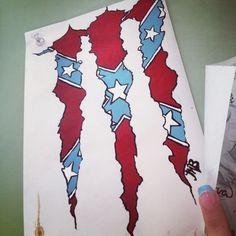 rebel flag monster logo!
