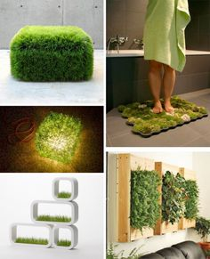10 Pieces of Modern Green Furniture. Wonder about how mat it made/planted.