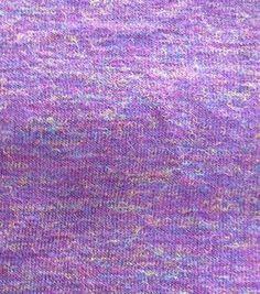 Fashion Voyage Collection- Heathered Multi Sweater Knit Purple Fabric