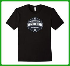 Mens Zombie Unit - Funny Zombie Halloween Tee Shirt Small Black - Holiday and seasonal shirts (*Amazon Partner-Link)
