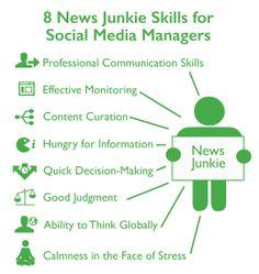 Le CM accro à l'information, un des 7 profils de Community Manager.  Ses armes : - Des compétences en communication - Une veille efficace - Une curation des contenus agrégé - Une soif d'information - Des capacités à prendre des décisions rapidement - Un bon jugement - La capacité à penser globalement - Une bonne gestion du stress