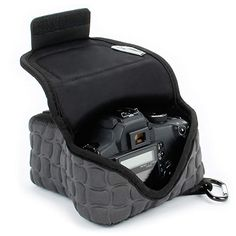 From Rugged Dslr Camera Case / Slr Camera Sleeve (black) With Neoprene Protection Holster Belt Loop And Accessory Storage By Usa Gear - Works With Canon Nikon Sony Olympus Pentax And Many Camera Case, Camera Gear, Slr Camera, Nikon, Cannon Camera, Usa Gear, Wow Deals, Photo Bag, Canon Eos Rebel