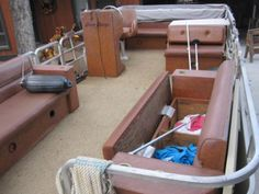 1984 Suntracker Party Barge Rebuild - Pontoon Forum > Get Help With Your Pontoon Project - Page 1 New Pontoon Boats, Pontoon Boat Seats, Pontoon Party, Party Barge, Restore, Remodeling, Restoration, River, Tips
