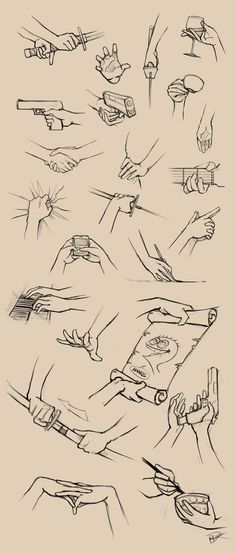Helpful drawing tutorials and references. - Imgur Drawing Hands, Hand Drawing Reference, Hand Drawings, Holding Hands Drawing, Anime Poses Reference, Weird Drawings, Human Reference, Drawing Skills, Drawing Stuff