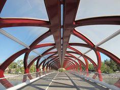 Calatrava bridge of peace calgary