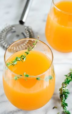 Apple Cider Thyme Cocktail