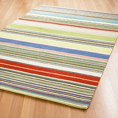 Sea Stripes Rug - Uncommonly rich stripes in colors created with a special dyeing process.