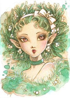 Mistletoe Fairy by Mitzi Sato-Wiuff