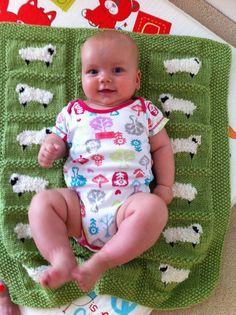 Ravelry: #30 Sheep Baby Blanket by Jean Guirguis