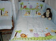 Selva baby azul. Fabricamos a la medida de tus sueños. www.andrithbebes.com Cali - Colombia
