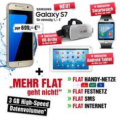 Handyvertrag mit Samsung Galaxy S7 + VR-Brille + Smartwatch + Android Tablet   Handy mit Vertrag