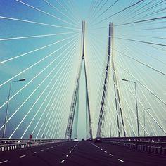 Bandra–Worli Sea Link bridge in Mumbai, India submitted by Instagram user aviraj to #GEInspiredME contest.