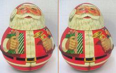 Vintage Tin Santa ClausKeepsakeSanta Collector by QVintage on Etsy