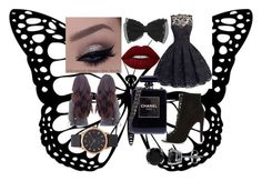 """""""Cute party dress"""" by angelahemmings-ah on Polyvore featuring River Island, Chanel, BERRICLE, Lime Crime and Marc Jacobs"""