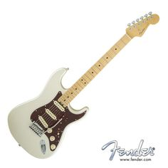 Fender American Elite Stratocaster with Maple Fingerboard - Olympic White with Case